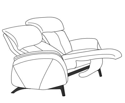 Himolla Cumuly Comfort 4718 Einzelsofas manuell